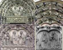 Senlis, la cathédrale. Portail de la vierge, façade occidentale. Vers 1170