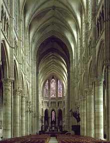 Soissons: cathédrale saints Gervais et Protais. La nef
