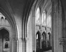 Soissons: cathédrale saints Gervais et Protais. Elévation de la nef