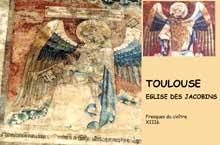 Toulouse, l'église des Jacobins. Fresques du cloître, XIIIè