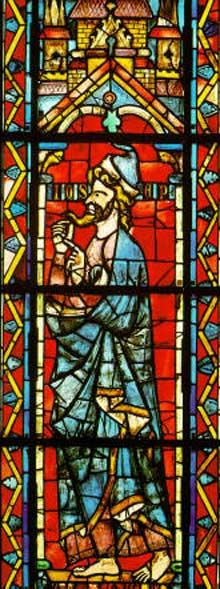 Troyes, basilique saint Urbain. Vitrail de saint Zacharie