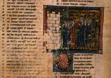 Chrétien de Troyes: Lancelot. Page du manuscrit du «Chevalier à la charrette»