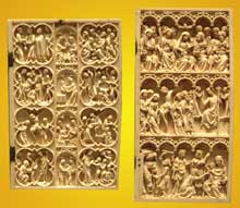 Scènes de la vie du Christ et de la Vierge. 1370-1380. Ivoire. Paris, musée du Louvre