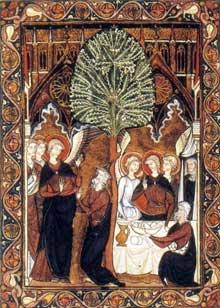 Le psautier de Saint Louis. Abraham. Vers 1253