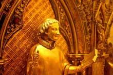 Saint Taurin, détail de la châsse de Saint Taurin d'Evreux (1240-1255). Cathédrale d'Evreux