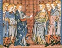 Philippe II de France et Richard Cœur de Lion se croisant