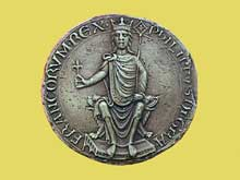Premier sceau de majesté de PhilippeII Auguste, roi de France (1180-1223)