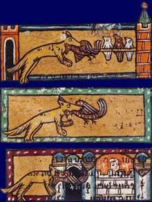 Extrait du «Roman de Renart». Début XIVè. Paris, BNF, département des Manuscrits Français 12584, fol. 2
