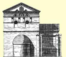 Poitiers: le baptistère Saint Jean. Schéma