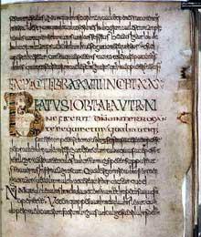 Page des «Moralia in Job» de Grégoire le Grand avec minuscule de Luxeuil. Vers 700-720. 273 x 215 mm, Dijon, bibliothèque