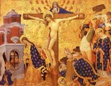 Ecole franco-flamande: Henri Bellechose (actif entre 1415 et 1440). Le martyre de Saint Denis. Panneau de bois, 161x 210 cm. Vers 1416. Paris, Musée du Louvre