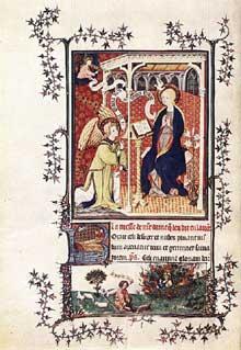 Jean Pucelle: page des «Très riches heures du Duc de Berry». (1380-1420)
