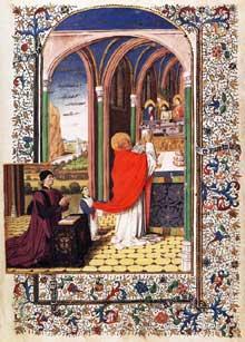 Enguerrand Quarton (1419-1466): livre d'Heures du Maréchal de Boucicaut, folio 241. Musée Jacquemart André, Paris