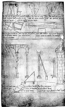 Villard de Honnecourt. Dessins et commentaires d'architecture gothique. Extrait des «Cahiers