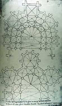 Villard de Honnecourt. Dessins et commentaires d'architecture gothique. Extrait des «Cahiers»