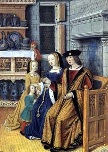 Jean Bourdichon (1457-1521): l'homme riche. 1500-1510. Miniature. Paris, École Nationale Supérieur des Beaux-Arts. (Histoire de l'art - Quattrocento