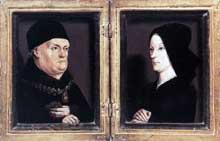 Nicolas Froment (1435-1486): le diptyque Matheron. 1474, huile sur bois. Paris, musée du Louvre. (Histoire de l'art - Quattrocento