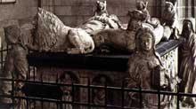 Michel Colombe (1430-1512): tombeau de FronçoisII de Bretagne et de son épouse Marguerite de Foix. 1502-1507 Marbre. Cathédrale de Nantes. (Histoire de l'art - Quattrocento