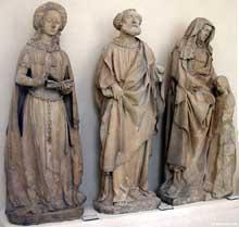 Jean de Chartres (Jean Guilhomet): sculptures du château des ducs de Bourbon à Chantelle (Allier). Paris, musée du Louvre. (Histoire de l'art - Quattrocento