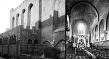 Agde: la cathédrale saint Etienne. Cette église fortifiée, haute de 35 mètres, est constituée de hauts murs et d'un donjon faisant office de clocher. Elle date de 1173