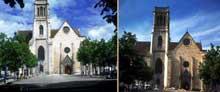 La cathédrale Saint-Caprais d'Agen. La façade.