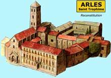Arles, saint Trophime: restitution de l'abbaye