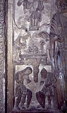 Arles, saint Trophime: le cloître. Bas relief