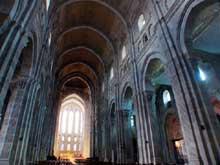 Autun, cathédrale saint Lazare: la nef centrale