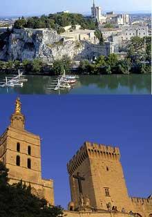 Avignon: Notre Dame des Doms, sur le rocher qui porte le même nom, est la cathédrale romane du XIIè de la ville