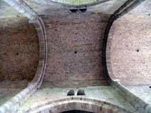 Beaulieu sur Dordogne, l'abbatiale. Voûte de la nef centrale.