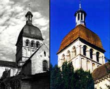 Beaune: la collégiale Notre Dame est construite au XIIè sur les plans de Cluny. La tour de croisée