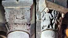 Besse en Chandesse (Puy du Dôme): collégiale saint André. Chapiteaux