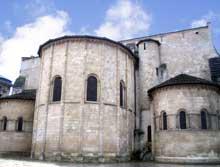 Bordeaux: l'abbaye de Sainte Croix: le chevet