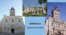 Bordeaux: la basilique saint Seurin. Porche du XIIè
