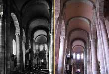 Bozouls (Aveyron): Sainte Fauste. La nef