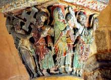 Brioude, église saint Julien: chapiteau de la passion du Christ