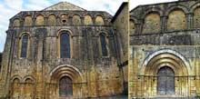 Cadouin (Dordogne): la façade de l'abbatiale