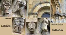 Cadouin (Dordogne): le chevet de l'abbatiale; détails