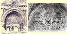 Cahors, la cathédrale saint Etienne. Portail nord