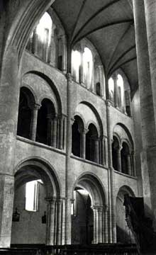 Cerisy la Forêt (Manche): l'abbaye saint Vigor. La nef
