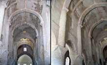 Chapaize (Saône et Loire): l'église paroissiale saint Martin. La nef