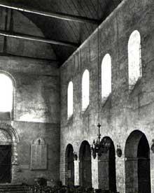 Château Landon (Seine et Marne): église Notre Dame. La nef