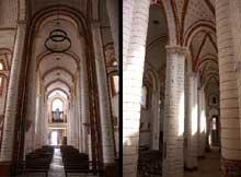Chauvigny (Vienne): l'église saint Pierre les Châteaux. La nef et le bas côté.