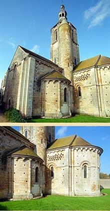 Civray (Vienne): l'église saint Nicolas. L'abside