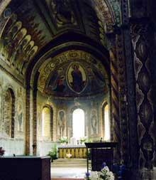 Civray (Vienne): l'église saint Nicolas. Le chœur