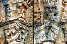 Civray (Vienne): l'église saint Nicolas. Décors du portail