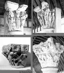 Cluny III: chapiteaux historiés du chœur de l'église