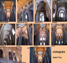 Conques en Aveyron: Sainte Foy, l'intérieur de l'abbatiale