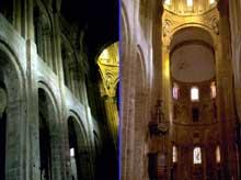 Bourg Charente. Eglise du Prieuré Saint Jean. Les trois coupoles sur pendentifs du prieuré Saint jean de Bourg Charente recouvrent tout le vaisseau et la croisée de l'édifice