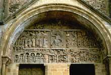 Conques en Aveyron: Sainte Foy, le tympan: vue générale